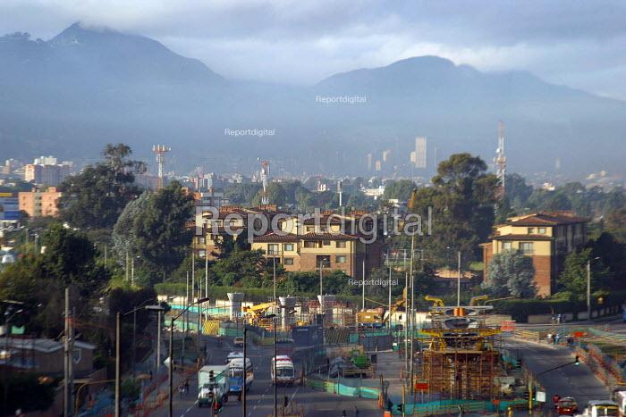 View of Bogota city from suburb area. Bogota, Colombia 2004 - Boris Heger - 2004-09-01