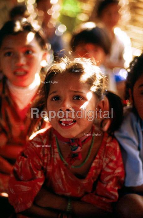 Bhutanese refugee children at school, Sanischare camp, Nepal. 1997 - Howard Davies - 1997-05-03