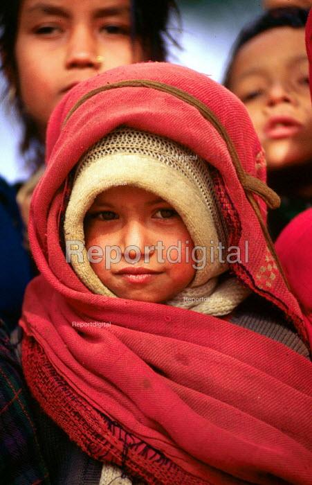 Nepalese children in a Himalayan village. Baglung district, Nepal. 1997 - Howard Davies - 1997-05-03
