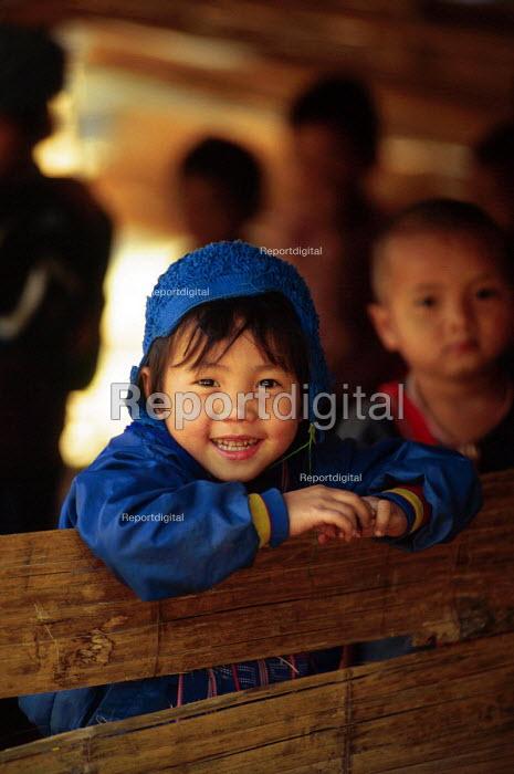 Karenni child at border refugee camp school. Camp Three, Thailand. 1996 - Howard Davies - 1996-05-03