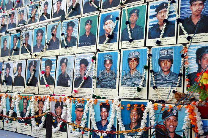 Floats commemorating Tamil Tigers suicide bombers on Black Tiger day in Kilinochchi, Sri Lanka 2005 - Howard Davies - 2005-03-05
