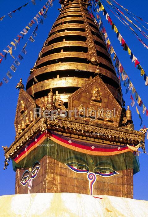 Swayambhunath Buddhist stupa in Kathmandu. - Howard Davies - 1997-08-03