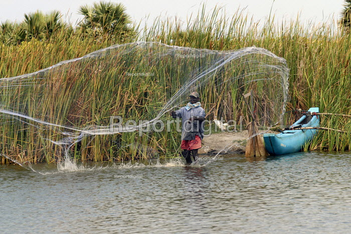 Fishermen using cast nets on a lagoon in the south east coast of Sri Lanka. 2007 - Howard Davies - 2007-10-22