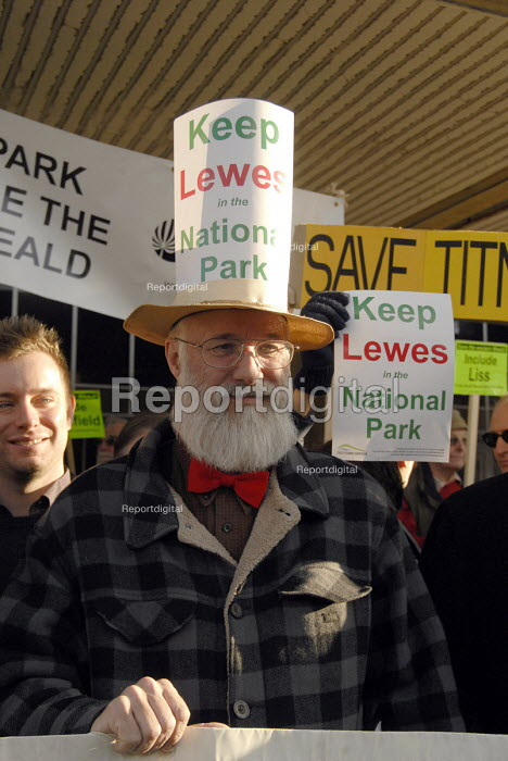 Demonstration by local activist groups in support of their communities inclusion into the proposed South Downs National Park. Hove Town Hall, UK 2007 - Howard Davies - 2007-12-11