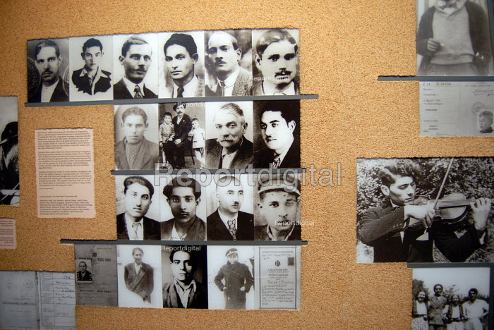 Display at Auschwitz recording history of Roma deported to the concentration camp, Poland - Howard Davies - 2008-06-11
