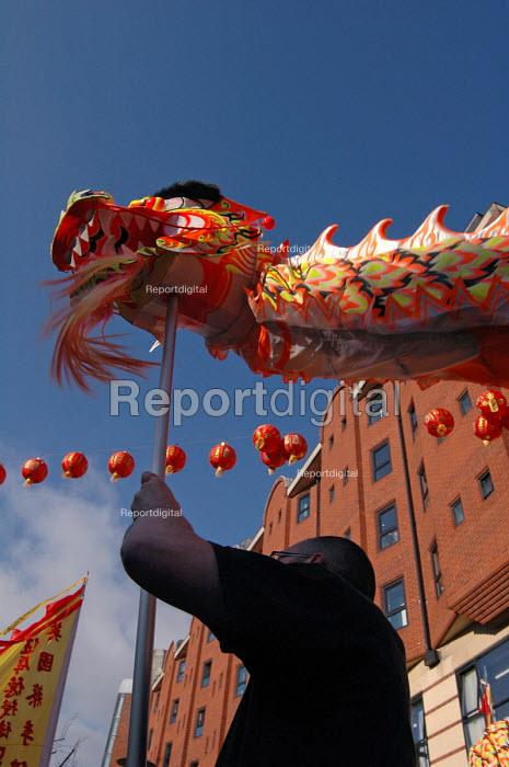 Dragon Performance at the Chinese New Year celebration in Birmingham 2006 - Timm Sonnenschein - 2006-01-29