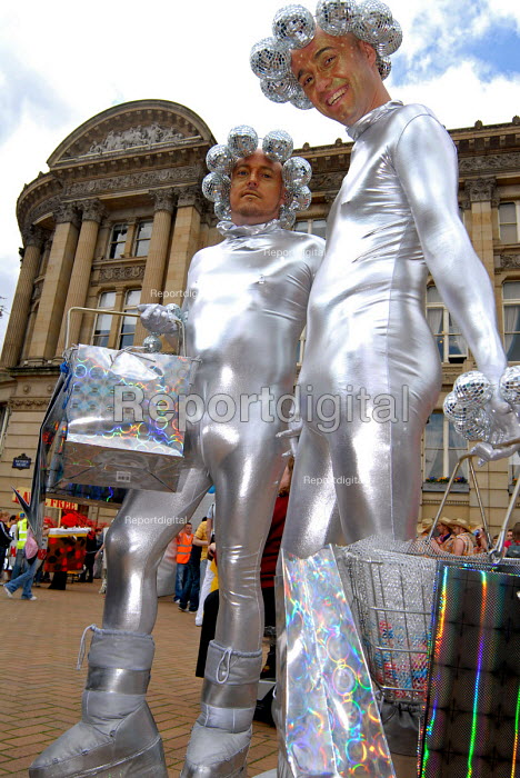 Gay men in space costumes on the Birmingham Pride Parade - Timm Sonnenschein - 2006-05-28