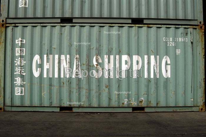 A container at the Shanghai China Shipping Terminal in Pudong, Shanghai - Timm Sonnenschein - 2006-08-15