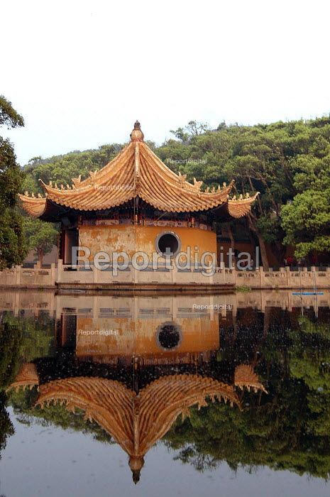 Puji Si Temple reflected in its pond, Pu Tuo Shan, China - Timm Sonnenschein - 2005-09-09
