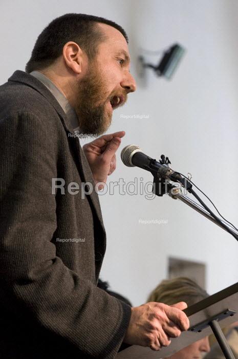 Reverend Ray Gaston speaking at a public meeting against Birmingham Anti Muslim CCTV and ANPR Cameras - Timm Sonnenschein - 2010-07-04