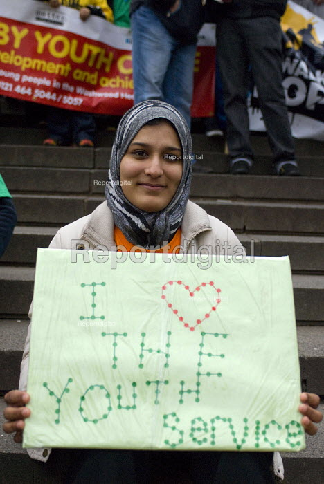 A deaf-mute youth during the Walk of Hope, Celebrating Birmingham Youth Services The City Council are to cut the youth service budget - Timm Sonnenschein - 2011-02-25