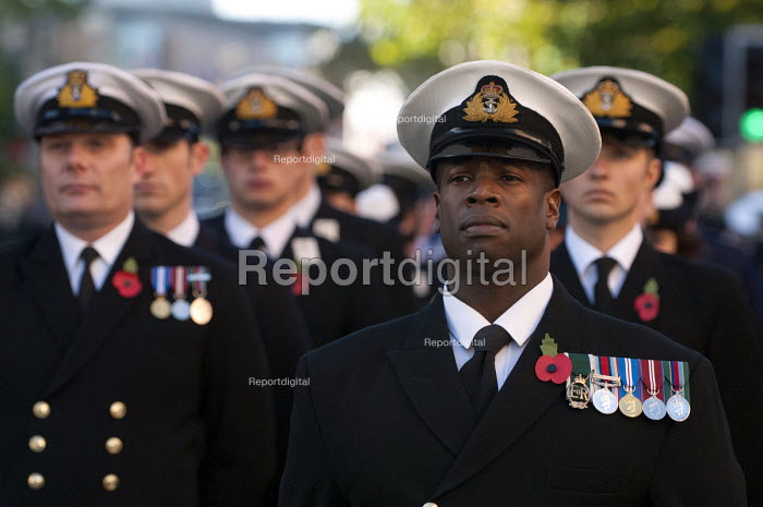 Royal Navy gathers on Broad Street for the Remembrance Day parade, Birmingham - Timm Sonnenschein - 2012-11-11