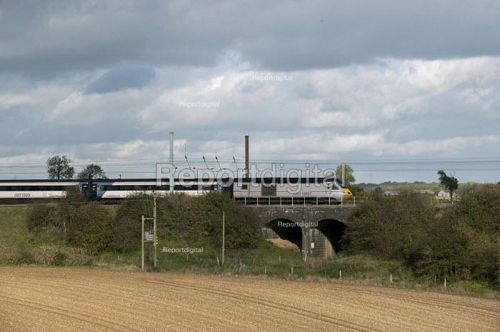 An East Coast Main line train near Corby Glen, Lincolnshire - Timm Sonnenschein - 2013-10-29