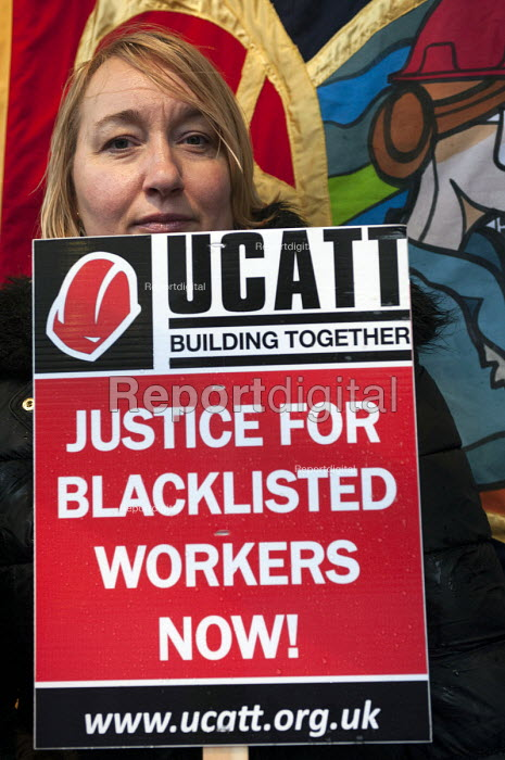 Midlands TUC and UCATT day of action against blacklisted trades union members protest outside the Sir Robert McAlpine office, Birmingham - Timm Sonnenschein - 2013-11-20