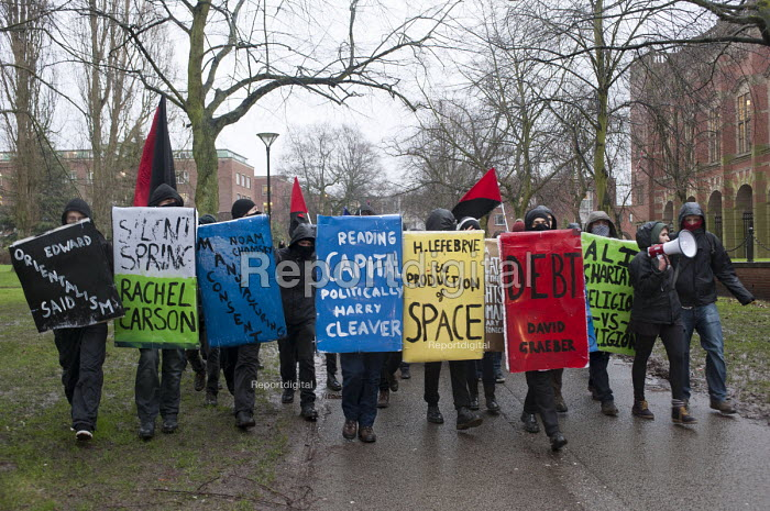 National Student Protest for free education, against cuts and the privatisation of student loans, University of Birmingham campus. - Timm Sonnenschein - 2014-01-29