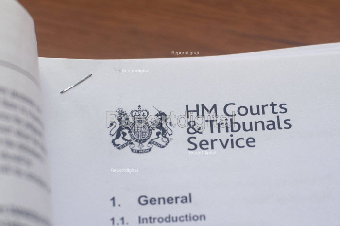 HM Courts and Tribunal Service letter - Timm Sonnenschein - 2014-10-01