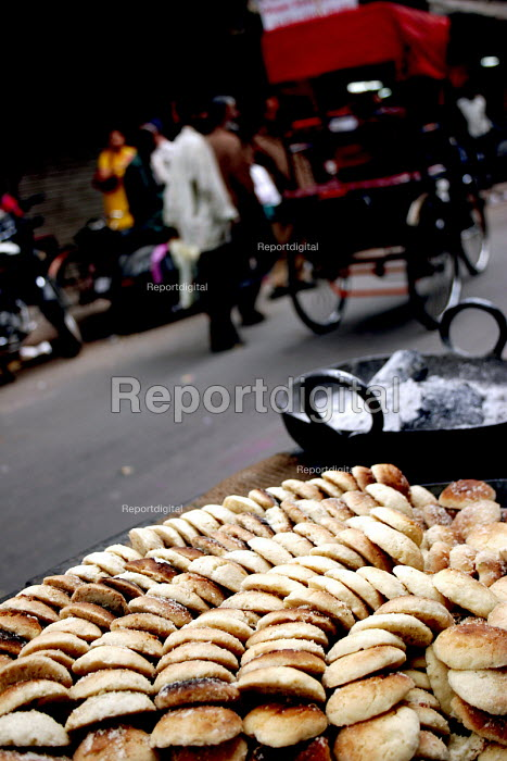 Locally made biscuits selling in Old Delhi, India - Tashi Tobgyal - 2007-10-11