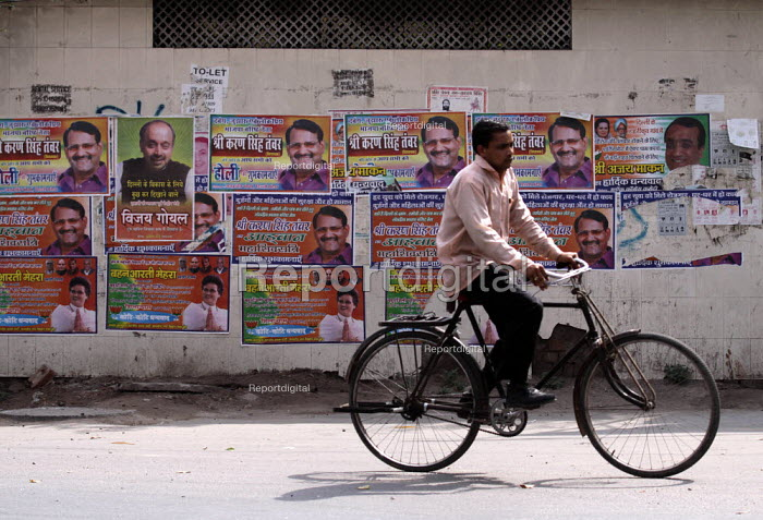 Election posters of politicians wishing festival greetings in New Delhi, India - Tashi Tobgyal - 2009-05-05