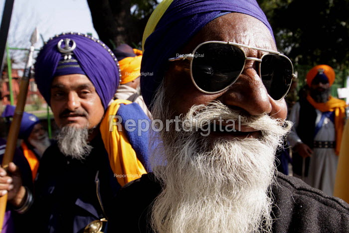 A group of Sikh Nihangs take part in an Election Campaign, New Delhi, India - Tashi Tobgyal - 2009-05-05
