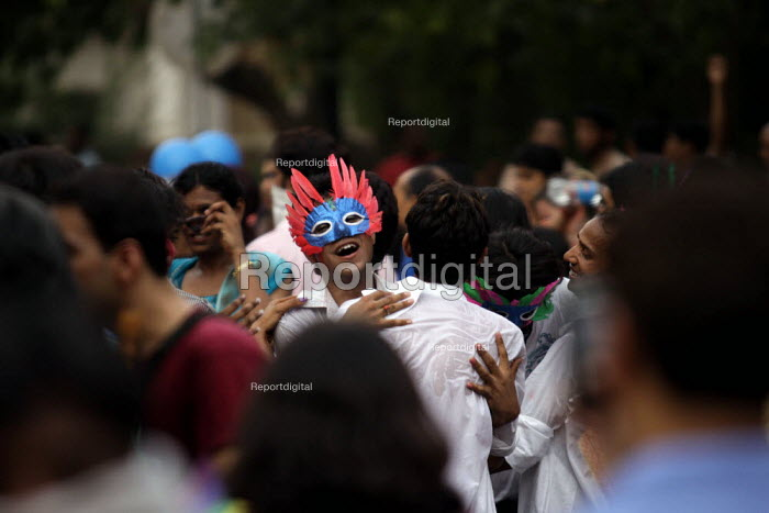 The second Gay parade held in New Delhi, India was a flamboyant procession countering Article 377, which makes Gay sexuality illegal and punishable in India. Many came out in huge number this time to support rights of the Gays and Lesbian community. - Tashi Tobgyal - 2009-06-28