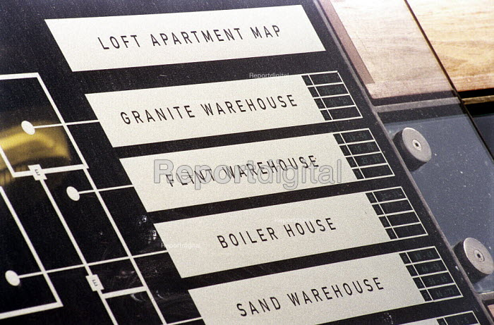 Loft apartment sign, Manchester - Len Grant - 2001-10-01