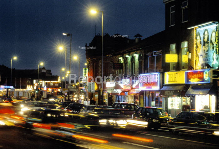 Curry Mile, Wilmslow Road, Rusholme Manchester. - Len Grant - 2001-09-23