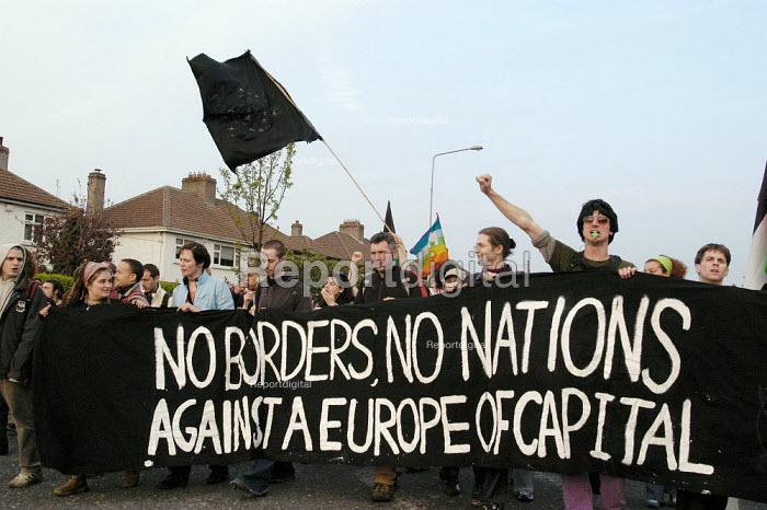 Protest against European Union enlargment summit. Dublin, Irish Republic. - Paul Mattsson - 2004-05-01