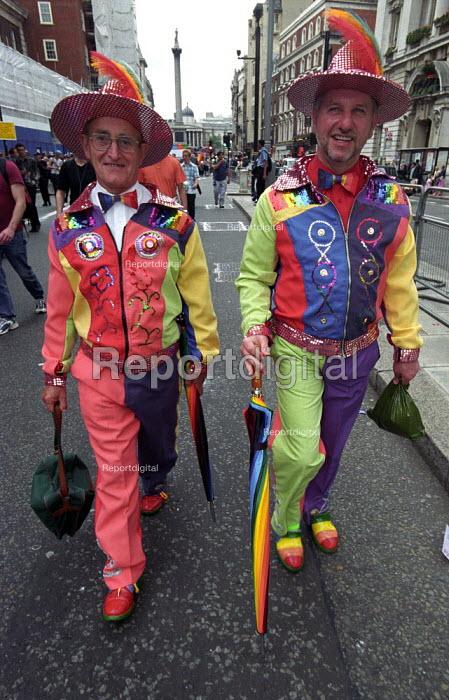 Older gay men on Mardi Gras 2002 Lesbian and Gay Pride march - Paul Mattsson - 2002-07-06