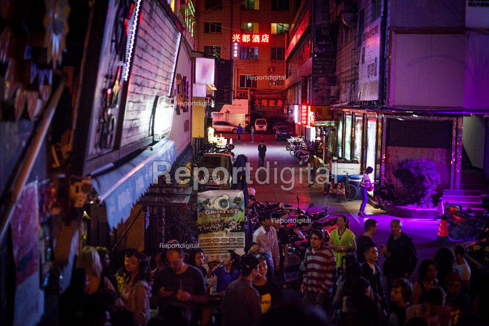 Mask Western style bar, Kundu, nightclub district, Kunming, China - Connor Matheson - 2015-09-11