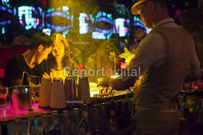 Mask Western style bar, Kundu, nightclub district, Kunming, China - Connor Matheson - 2015-09-11