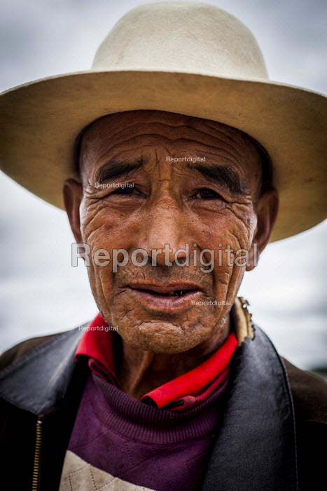 An elderly man looking after his Yacks, Shangri-La, Yunnan Province, China. - Connor Matheson - 2015-09-24