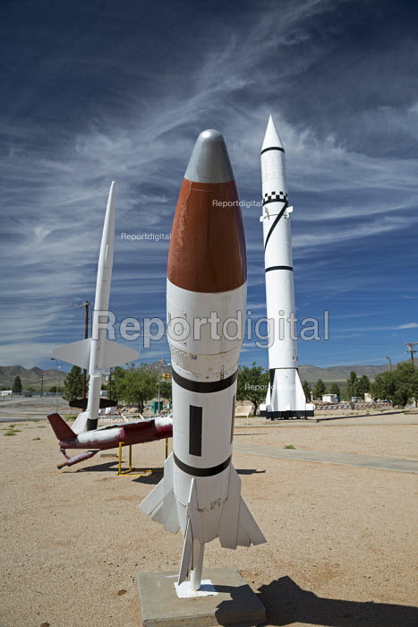 Las Cruces, New Mexico, Missile Park, White Sands Missile Range Museum. Genie air to air unguided rocket was designed to carry a nuclear warhead - Jim West - 2015-10-14