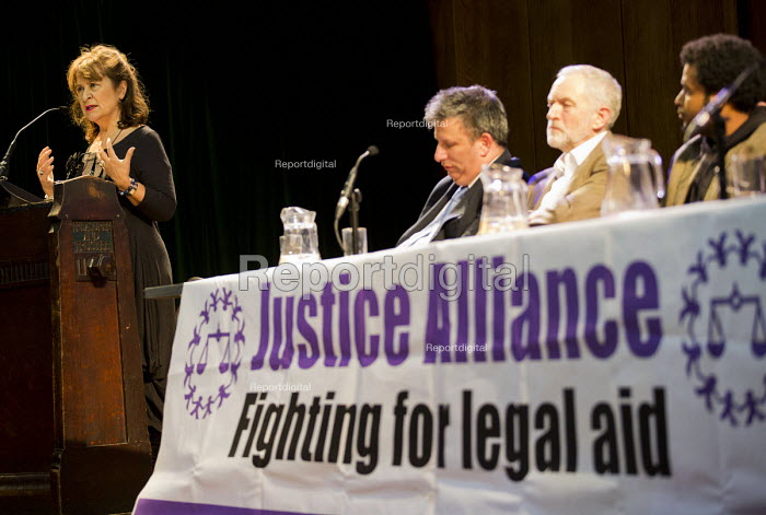 Baroness Helena Kennedy speaking, Voices for Justice - Save Legal Aid, Justice Alliance rally. Conway Hall. London. - Jess Hurd - 2016-01-06