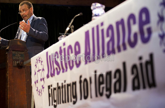 Ian Lawrence, Napo speaking, Voices for Justice - Save Legal Aid, Justice Alliance rally. Conway Hall. London. - Jess Hurd - 2016-01-06