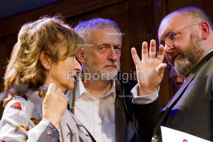 Helena Kennedy, Jeremy Corbyn and Greg Foxsmith speaking. Voices for Justice - Save Legal Aid, Justice Alliance rally. Conway Hall. London. - Jess Hurd - 2016-01-06