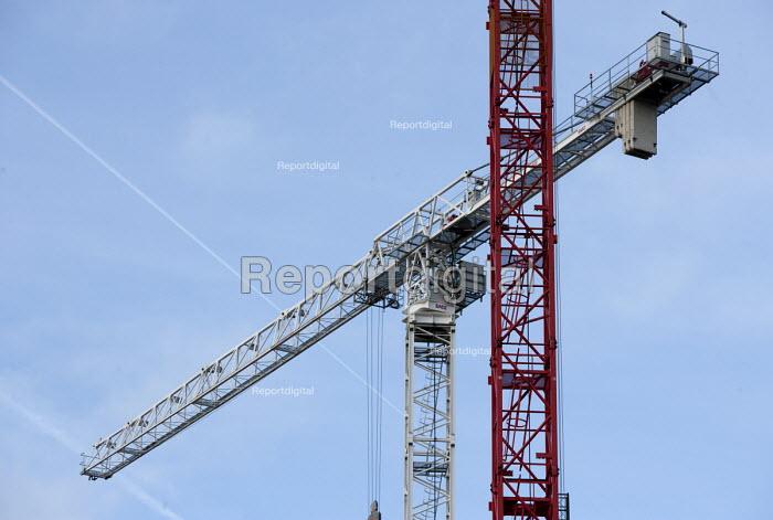 Cranes, building site, Leeds, Yorkshire - John Harris - 2015-12-04