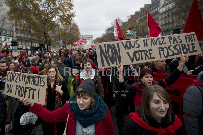 Red Lines climate change protests COP21 Climate Summit. Paris. - Jess Hurd - 2015-12-12
