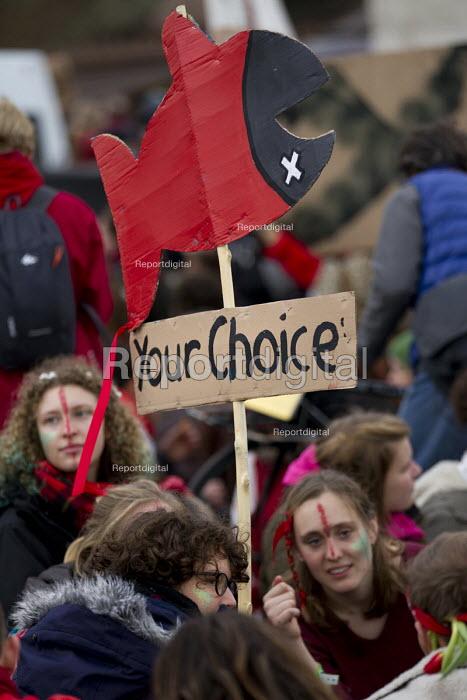 Red Lines climate change protests COP21 Climate Summit. Paris. - Jess Hurd - 2015-12-12