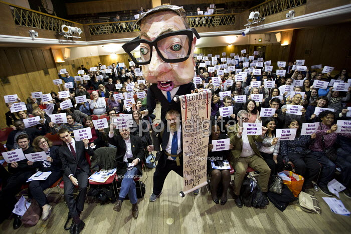Scrap two-tier justice, Michael Gove. Voices for Justice - Save Legal Aid, Justice Alliance rally. Conway Hall. London. - Jess Hurd - 2016-01-06