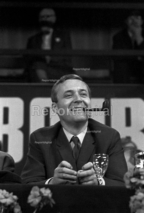Tony Benn smoking his pipe, Labour Party Conference 1968 - NLA - 1968-09-30