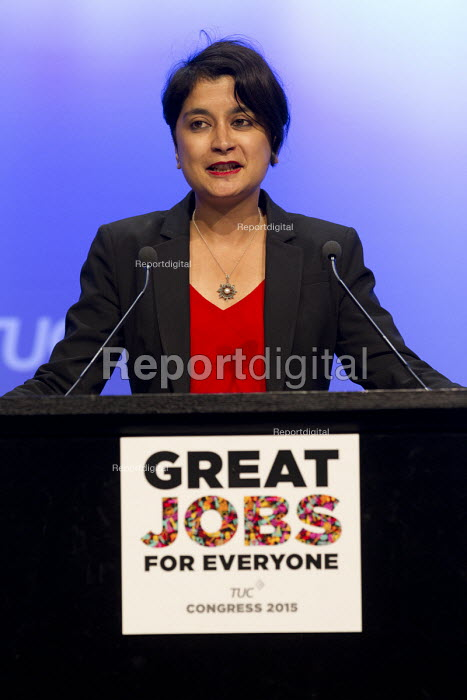 Shami Chakrabarti, Liberty speaking at TUC conference Brighton. - Jess Hurd - 2015-09-16