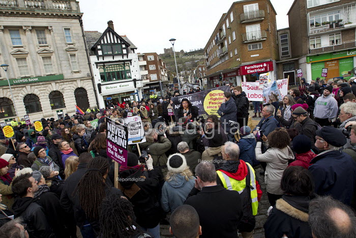 Diane Abbott MP speaking Kent Anti Racism Network protest against National Front anti refugee protest Dover - Jess Hurd - 2016-01-30