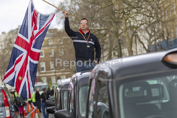 Black cab drivers protest against Uber and TFL, Whitehall. London. - Jess Hurd - 2016-02-10