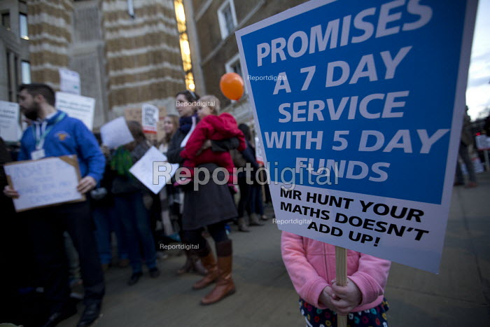 BMA junior doctors protest outside the Department of Health against the imposition of a new contract. Whitehall, London - Jess Hurd - 2016-02-12