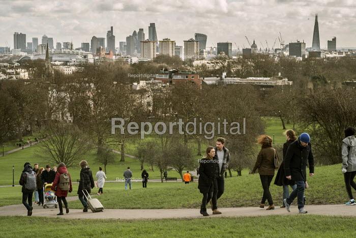 City of London skyline from Primrose Hill, Camden, London - Philip Wolmuth - 2016-02-07
