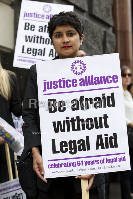 Shami Chakrabarti, Liberty. Rally organised by the Justice Alliance in opposition to the government attack on legal aid and access to justice. Old Bailey, City of London. - Jess Hurd - 2013-07-30
