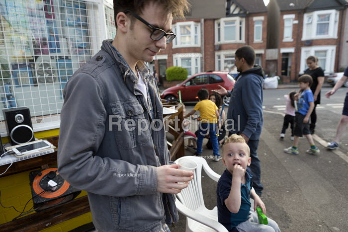 Street party at a corner shop, Coventry - John Harris - 2016-05-08
