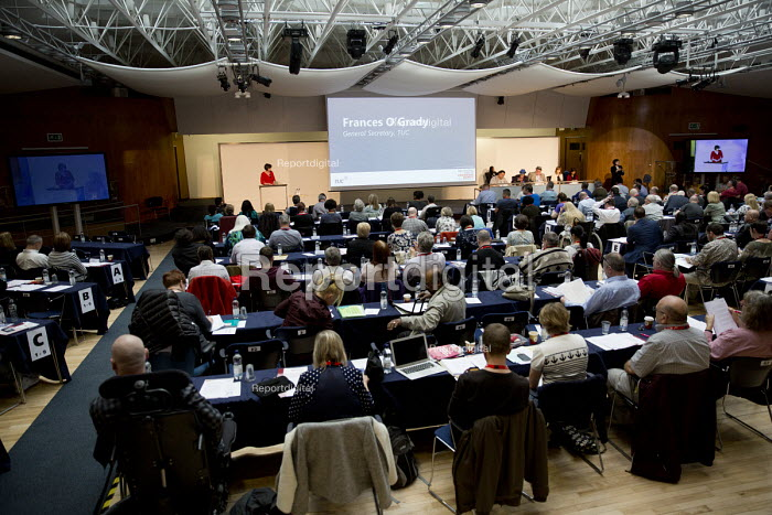 Frances O'Grady speaking, TUC Disabled Workers Conference. Congress House. London. - Jess Hurd - 2016-05-19