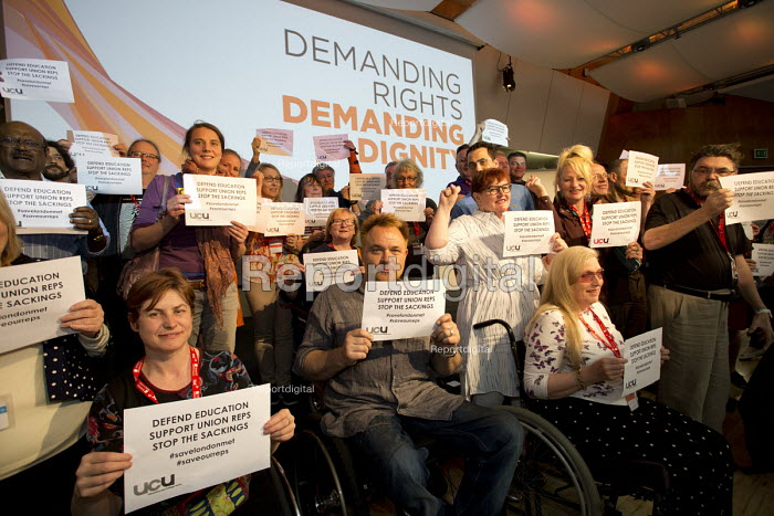 Solidarity with UCU London Met University. TUC Disabled Workers Conference, Congress House. London. - Jess Hurd - 2016-05-20