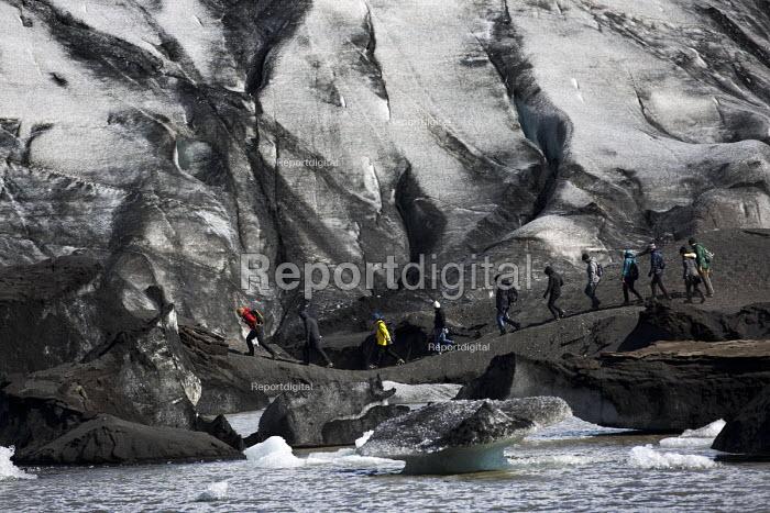 Glacial walk across Solheimajokull glacier, Iceland. - Jess Hurd - 2016-05-06